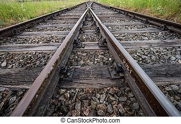 hardloop wedstrijd, spoorweg, zacht