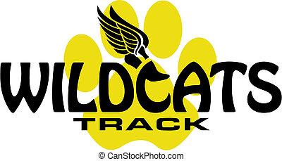 hardloop wedstrijd, wildcats, ontwerp