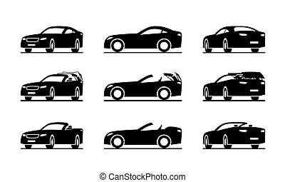 Hardtop convertible sport car in perspective ? vector ...