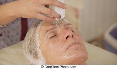 Hardware cosmetology. Rejuvenation of face skin. Full HD