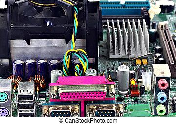 Hardware - Digital hardware closeup. Computer details and...