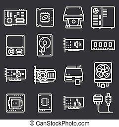 hardware, edv, icons.