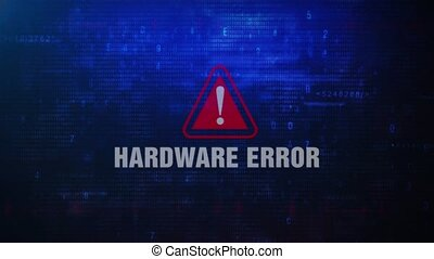 Hardware Error Alert Warning Error Message Blinking on...
