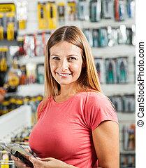 Hardware, frau, Werkzeuge, kaufmannsladen, Kaufen
