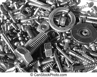 Hardware - Industrial steel hardware bolts, nuts, screws