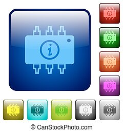 Hardware info color square buttons