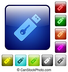 Hardware key color square buttons
