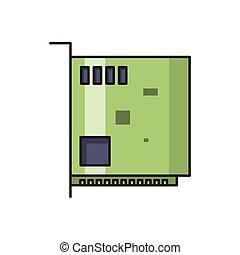 hardware line flat icon
