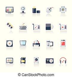 hardware, partes computador, ícones