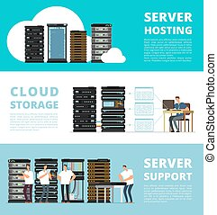 Hardware server system and network administration. Data storage engineering service