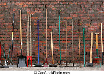 Hardware Tools - Selection of hardware tools lined up ...