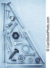 hardware, werkzeuge, metall, hintergrund