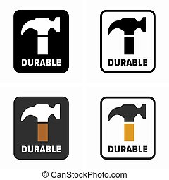 hardwearing, article, durable, propriété, symbole