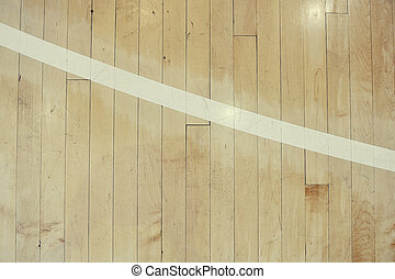 Hardwood Detail - Close up detail of a hardwood basketball...
