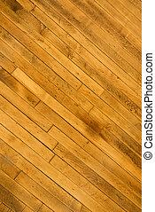 Hardwood floor. - Close-up of hardwood floor.