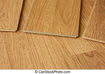 hardwood floor detail - pieces of hardwood flooring showing...