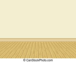 Hardwood floor. - Empty room with hardwood floor.