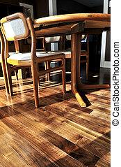 Hardwood floor - Hardwood walnut floor in residential home ...