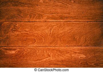 Hardwood floor - A beautiful deep, rich hardwoor floor with...