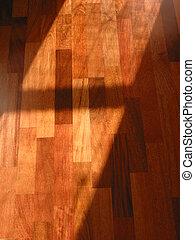 Hardwood floor - Warm brown brazilian cherry hardwood floor...