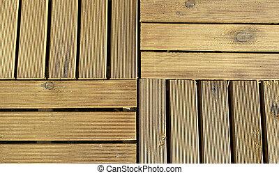 Hardwood Floor - Wooden horizontal and vertical rough modern...