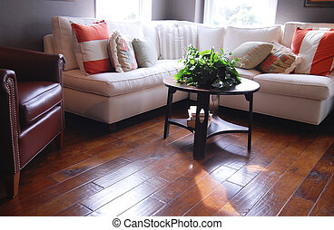 Hardwood flooring - Hardwood Flooring in Living Room