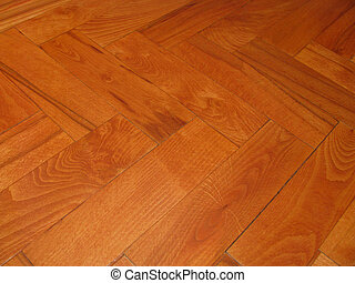 Hardwood Flooring - Modern red hardwood tiles on the floor