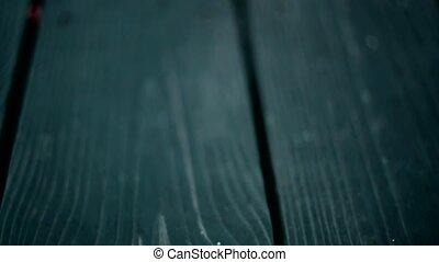 hardwood floors, video in motion, autumn autumn leaves