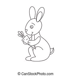 Hare for coloring book