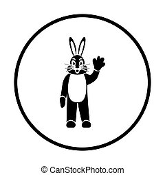 Hare puppet doll icon