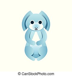 Hare, rabbit stylized geometric animal low poly design vector Illustration