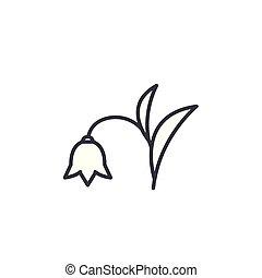 Harebell line icon concept. Harebell flat vector sign, symbol, illustration.