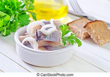 hareng, oignon