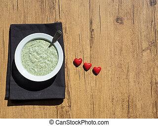 Hari Chutney - green sauce consisting of seven herbs