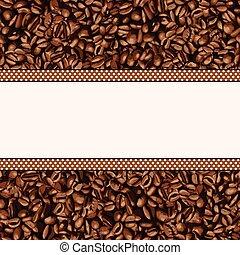haricot, café, fond