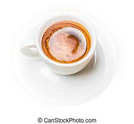 haricots, tasse, café