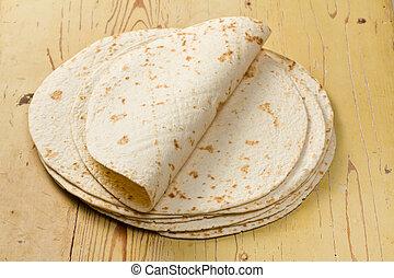 harina, tortillas