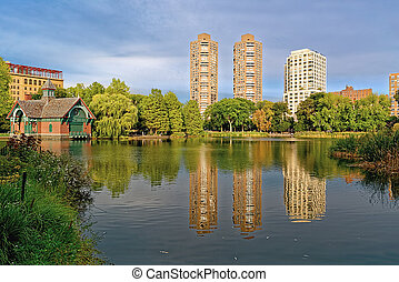 Harlem meer, New York City, USA - Harlem meer, the biggest...