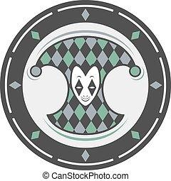 harlequin circle symbol art