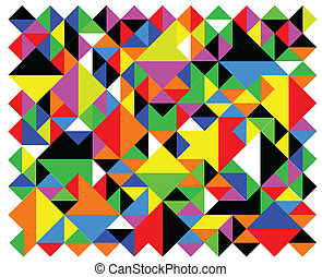 Harlequin - A patchwork quilt efect made from coloured...
