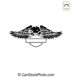 harley davidson emblem or icon abstract vector isolated -...