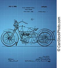 Harley Davidson Motorcycle Patent 1925, Vintage patent ...