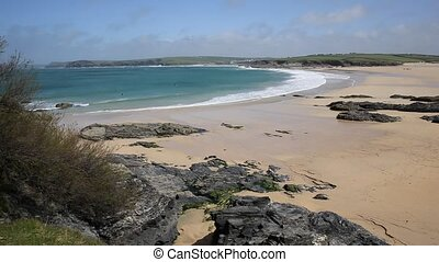 Harlyn Bay coast North Cornwall uk