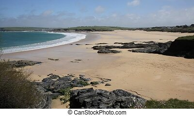 Harlyn Bay North Cornwall uk