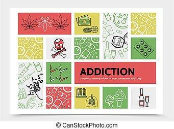 Harmful Addictions Infographic Concept - Harmful addictions...