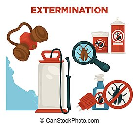 Harmful insects extermination devices and means...