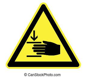 harming, pericolo, tuo, mani