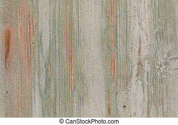background of old wooden plank with peeling color