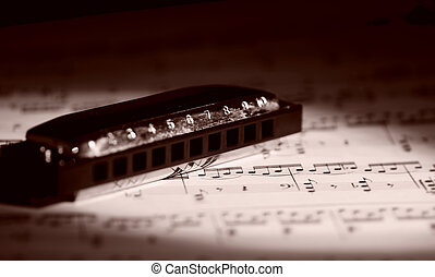 Harmonica on Sheetmusic