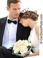 harmonikus, fiatal, newlywed, párosít